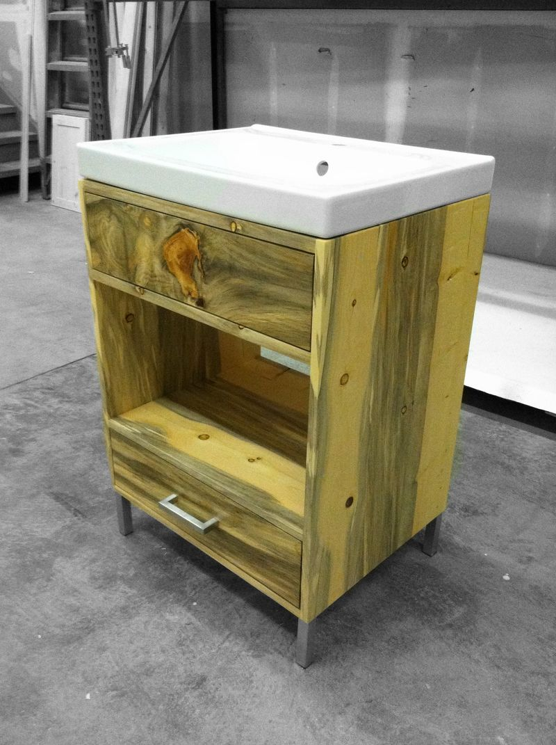 Beetle Kill Pine Bathroom Vanity